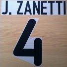 JAVIER ZANETTI 4 INTER AWAY 2000 2001 NAME NUMBER SET NAMESET KIT PRINT