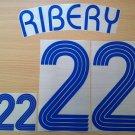 RIBERY 22 FRANCE AWAY WORLD CUP 2006 NAME NUMBER SET NAMESET KIT PRINT