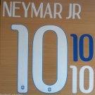 NEYMAR JR 10 BRAZIL AWAY 2014 2015 NAME NUMBER SET NAMESET KIT PRINT WORLD CUP