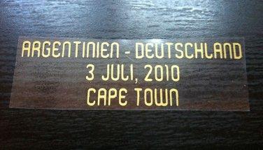 MATCH DETAILS ARGENTINA ARGENTINIEN VS DEUTSCHLAND 3 JULY WORLD CUP 2010 PRINT