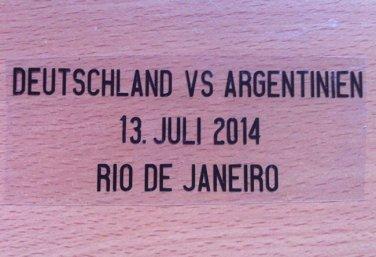 MATCH DETAILS GERMANY DEUTSCHLAND VS ARGENTINIEN ARGENTINA FINAL WORLD CUP 2014