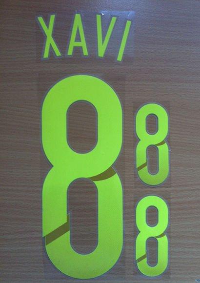 XAVI 8 SPAIN AWAY 2014 2015 NAME NUMBER SET NAMESET KIT PRINT WORLD CUP