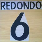 REDONDO 6 REAL MADRID HOME 1998 1999 NAME NUMBER SET NAMESET KIT PRINT RETRO