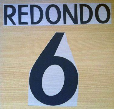 REDONDO 6 REAL MADRID HOME 1998 1999 NAME NUMBER SET NAMESET KIT PRINT RETRO