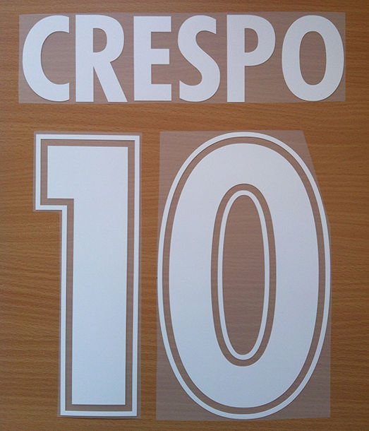 CRESPO 10 SS LAZIO AWAY 2000 2001 NAME NUMBER SET NAMESET KIT PRINT NUMBERING