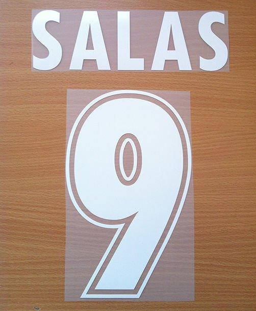 SALAS 9 SS LAZIO AWAY 2000 2001 NAME NUMBER SET NAMESET KIT PRINT NUMBERING
