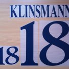 KLINSMANN 18 GERMANY HOME EURO 1996 NAME NUMBER SET NAMESET KIT PRINT NUMBERING