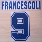 FRANCESCOLI 9 RIVER PLATE HOME 1996 NAME NUMBER SET NAMESET KIT PRINT NUMBERING