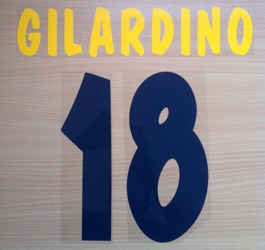 GILARDINO 18 PARMA HOME 2002 2003 NAME NUMBER SET NAMESET KIT PRINT NUMBERING