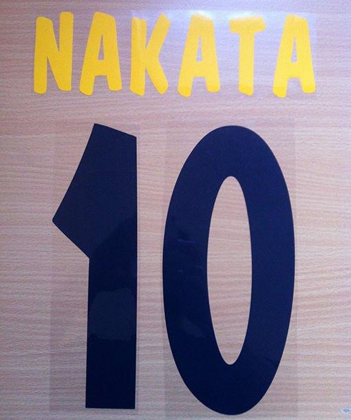 NAKATA 10 PARMA HOME 2001 2002 NAME NUMBER SET NAMESET KIT PRINT NUMBERING