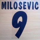 MILOSEVIC 9 PARMA HOME 2000 2001 NAME NUMBER SET NAMESET KIT PRINT NUMBERING