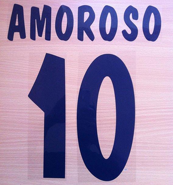 AMOROSO 10 PARMA HOME 2000 2001 NAME NUMBER SET NAMESET KIT PRINT NUMBERING