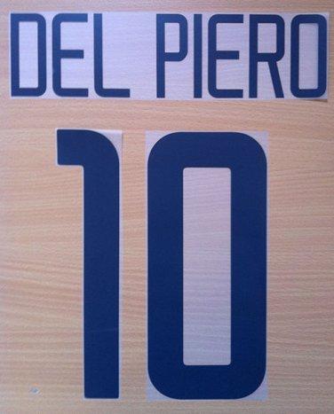 DEL PIERO 10 JUVENTUS HOME 2003 2004 NAME NUMBER SET NAMESET KIT PRINT NUMBERING