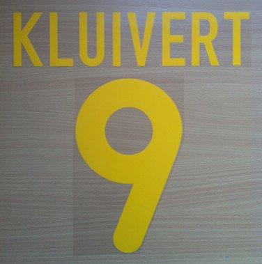 KLUIVER 9 BARCELONA HOME 2001 2002 NAME NUMBER SET NAMESET KIT PRINT