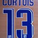 CURTOIS 13 ATLETICO MADRID 2013 2014 HOME NAME NUMBER SET NAMESET KIT PRINT