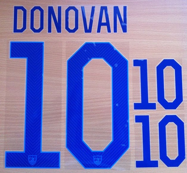DONOVAN 10 UNITED STATES USA 2014 2015 NAME NUMBER SET NAMESET KIT PRINT