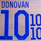 DONOVAN 10 UNITED STATES USA 2014 2015 NAME NUMBER SET NAMESET KIT PRINT