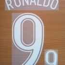 RONALDO 9 BRAZIL AWAY WORLD CUP GERMANY 2006 NAME NUMBER SET NAMESET KIT PRINT