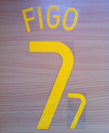 LUIS FIGO 7 PORTUGAL HOME WC 2006 NAME NUMBER SET NAMESET KIT PRINT