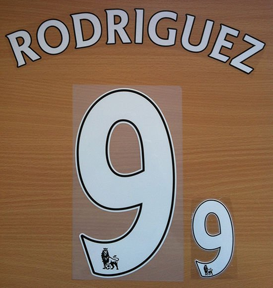 JAY RODRIGUEZ 9 SOUTHAMPTON HOME 2013 2014 NAME NUMBER SET NAMESET KIT PRINT