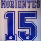 MORIENTES 15 REAL MADRID HOME 1997 1998 NAME NUMBER SET NAMESET KIT PRINT RETRO