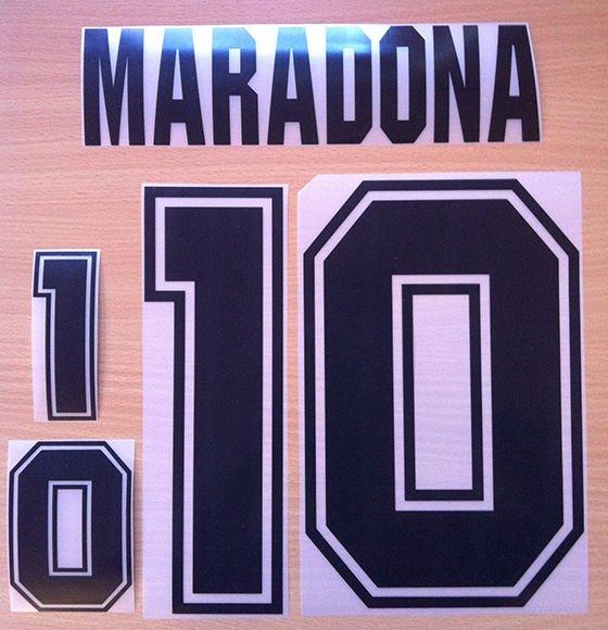 MARADONA 10 ARGENTINA HOME WORLD CUP 1994 NAME NUMBER SET NAMESET KIT PRINT