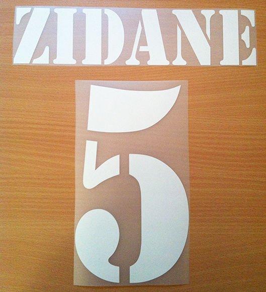 ZIDANE 5 REAL MADRID AWAY 2001 2002 NAME NUMBER SET NAMESET KIT PRINT