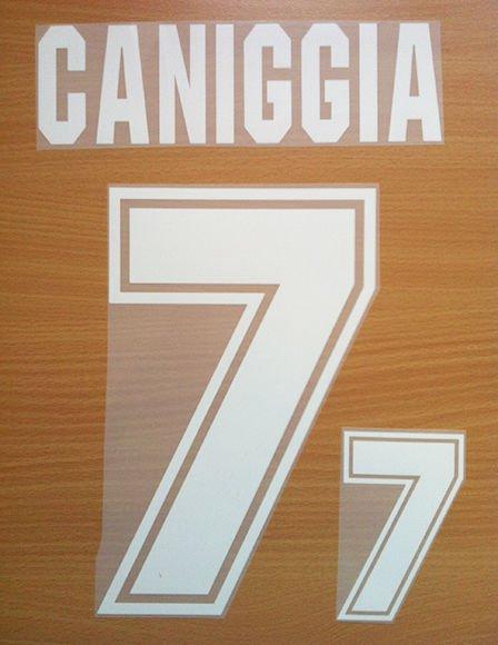 CANIGGIA 7 ARGENTINA AWAY WORLD CUP 1994 NAME NUMBER SET NAMESET KIT PRINT