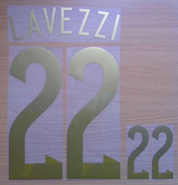 EZEQUIEL LAVEZZI 22 ARGENTINA AWAY 2014 2015 NAME NUMBER SET NAMESET KIT PRINT