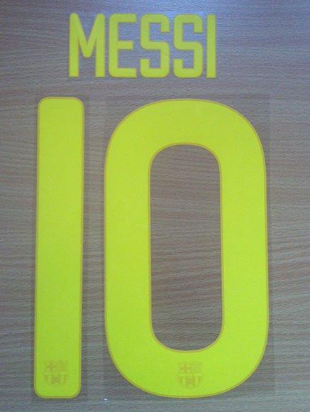 MESSI 10 BARCELONA HOME 2011 2012 NAME NUMBER SET NAMESET KIT PRINT RETRO