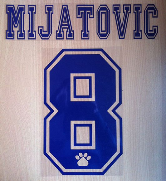 MIJATOVIC 8 REAL MADRID HOME 1996 1998 NAME NUMBER SET NAMESET KIT PRINT RETRO