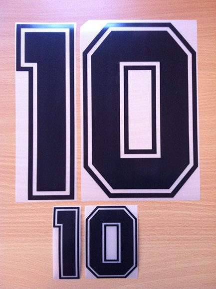 MARADONA 10 ARGENTINA HOME WORLD CUP 1990 NAME NUMBER SET NAMESET KIT PRINT