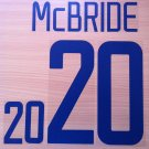 MCBRIDE 20 USA UNITED STATES HOME WC 2002 NAME NUMBER SET NAMESET KIT PRINT