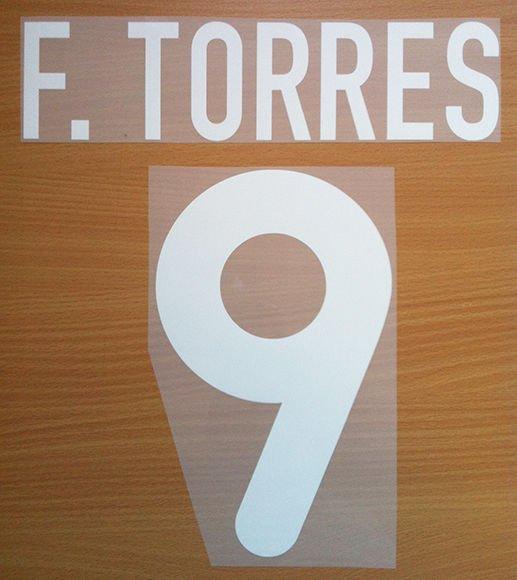 TORRES 9 ATLETICO MADRID AWAY 2001 2002 NAME NUMBER SET NAMESET KIT PRINT