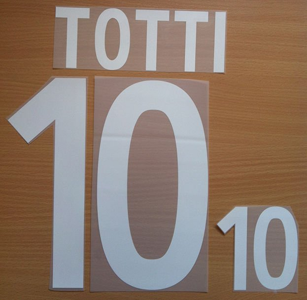 TOTTI 10 ITALY HOME WORLD CUP 2002 NAME NUMBER SET NAMESET KIT PRINT NUMBERING