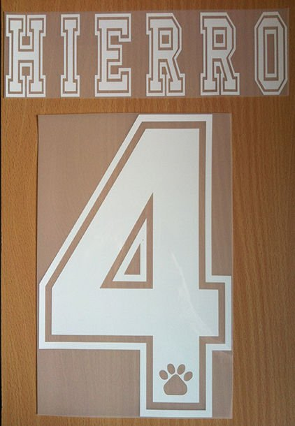 HIERRO 4 REAL MADRID AWAY 1996 1998 NAME NUMBER SET NAMESET KIT PRINT RETRO