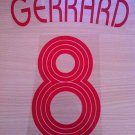 GERRARD 8 LIVERPOOL AWAY UCL 2006 2007 NAME NUMBER SET NAMESET KIT PRINT RETRO