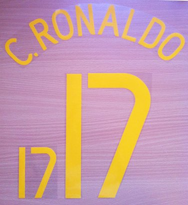 CRISTIANO RONALDO 17 PORTUGAL HOME WC 2006 NAME NUMBER SET NAMESET KIT PRINT