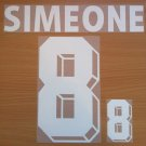 SIMEONE 8 ARGENTINA AWAY WORLD CUP 1998 NAME NUMBER SET NAMESET KIT PRINT