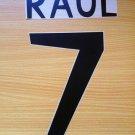 RAUL 7 REAL MADRID HOME 1998 1999 NAME NUMBER SET NAMESET KIT PRINT RETRO
