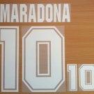 MARADONA 10 ARGENTINA AWAY WORLD CUP 1994 NAME NUMBER SET NAMESET KIT PRINT