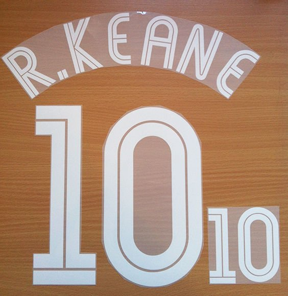 ROBBIE KEANE 10 REPUBLIC OF IRELAND WC 2002 NAME NUMBER SET NAMESET KIT PRINT
