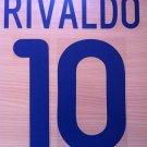 RIVALDO 10 BARCELONA AWAY 2001 2002 NAME NUMBER SET NAMESET KIT PRINT