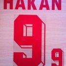 HAKAN SUKUR 9 AWAY TURKEY EURO 1996 NAME NUMBER SET NAMESET KIT PRINT