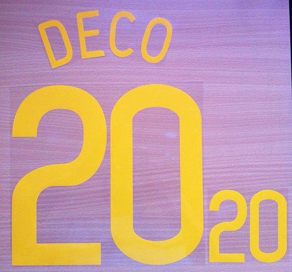 DECO 20 PORTUGAL HOME WC 2006 NAME NUMBER SET NAMESET KIT PRINT