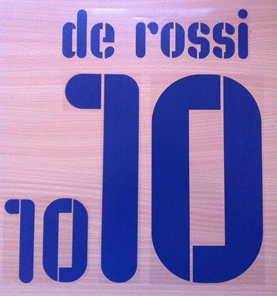 DANIELE DE ROSSI 10 ITALY AWAY WC 2010 NAME NUMBER SET NAMESET KIT PRINT