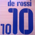 DANIELE DE ROSSI 10 ITALY AWAY WC 2010 NAME NUMBER SET NAMESET KIT PRINT
