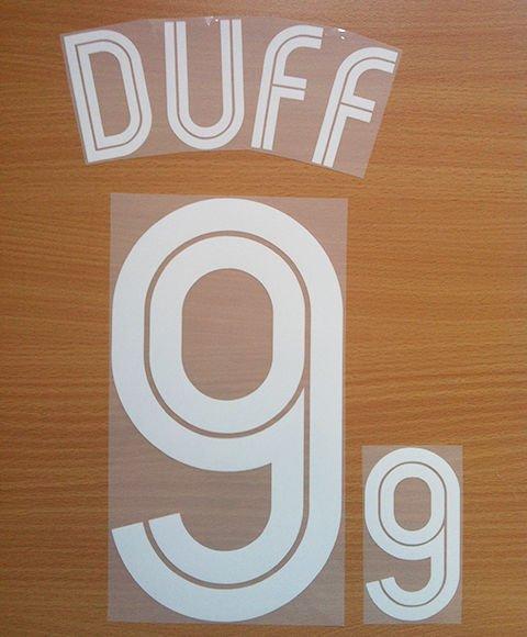 DAMIEN DUFF 9 REPUBLIC OF IRELAND WC 2002 NAME NUMBER SET NAMESET KIT PRINT