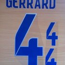 GERRARD 4  ENGLAND HOME 2014 2015 NAME NUMBER SET NAMESET KIT PRINT