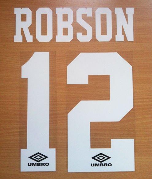 ROBSON 12 MANCHESTER UNITED HOME 1992 1996 NAME NUMBER SET NAMESET PRINT